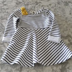 Genuine Kids by Oshkosh navy/ white striped dress